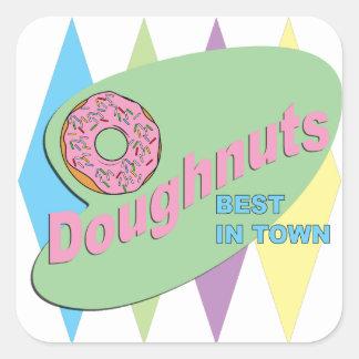 doughnut shop square sticker
