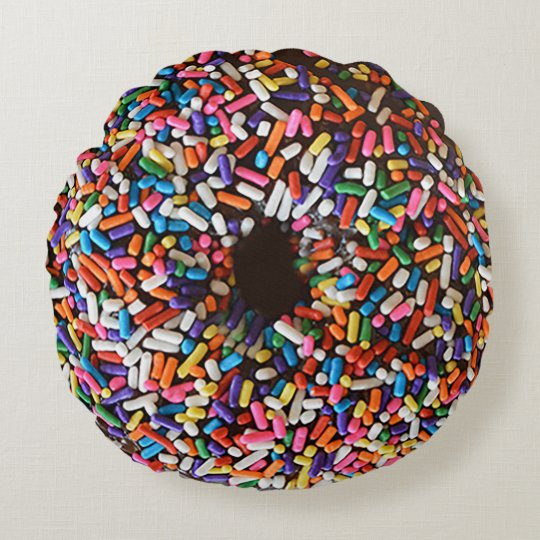 Doughnut Sprinkles Chocolate Icing Pillow