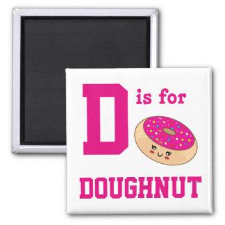 Doughnut Square Magnet