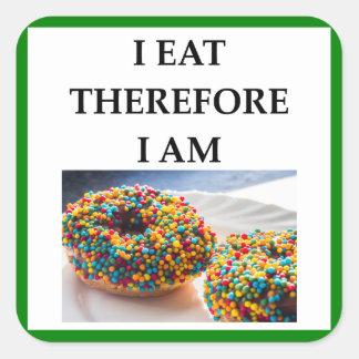 doughnut square sticker