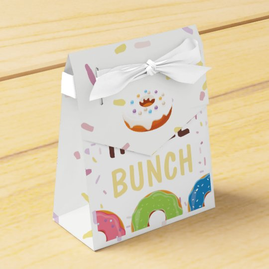 Doughnut themed Birthday Party Guest Thank You Favor Box