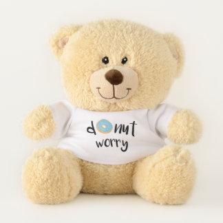 Doughnut Worry Blue Teddy Bear