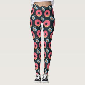 Doughnuts and Coffee Pattern Leggings
