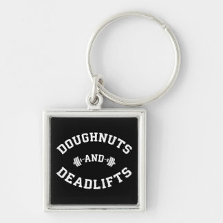 Doughnuts and Deadlifts - Funny Gym Workout Keychain