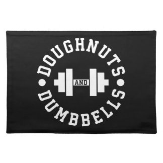 Doughnuts and Dumbbells - Carbs - Funny Workout Placemat