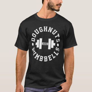 Doughnuts and Dumbbells - Carbs - Funny Workout T-Shirt