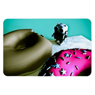 Doughnuts and Toy Robot 02 Premium Flexi Magnet