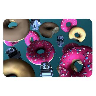 Doughnuts and Toy Robot 03 Premium Flexi Magnet