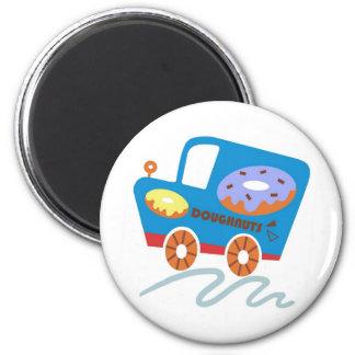 Doughnuts Car 2 Inch Round Magnet