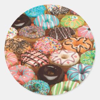 doughnuts classic round sticker