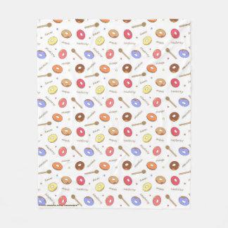 Doughnuts Homemade Fleece Blanket