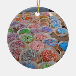 Doughnuts! Round Ceramic Ornament