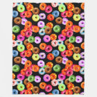 Doughnuts seamless pattern + your backgr. & ideas fleece blanket