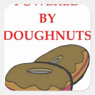 DOUGHNUTS SQUARE STICKER