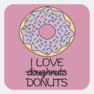 Doughnuts vs. Donuts Square Sticker