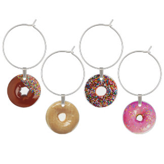 Doughnuts Wine Glass Charm
