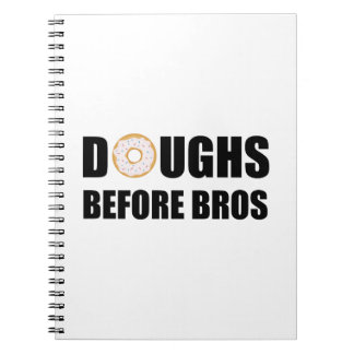 Doughs Before Bros Spiral Notebooks