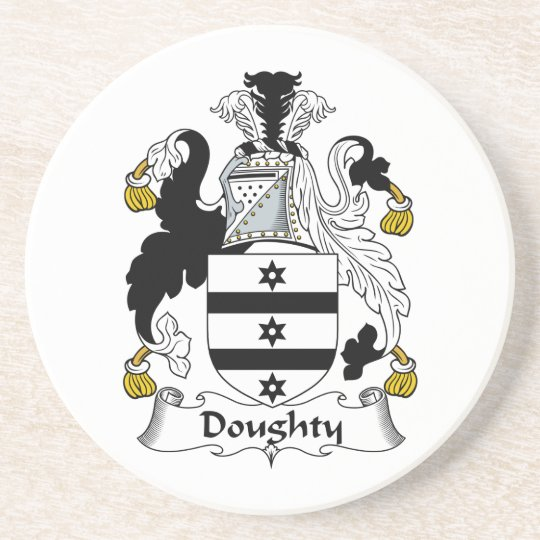 Doughty Family Crest Coaster