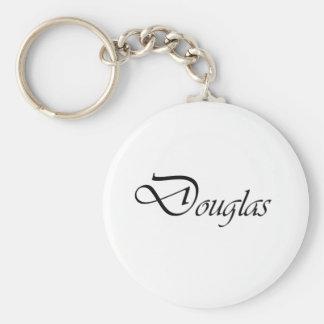 Douglas Basic Round Button Keychain