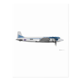 Douglas C-54 Presidential Transport Postcard