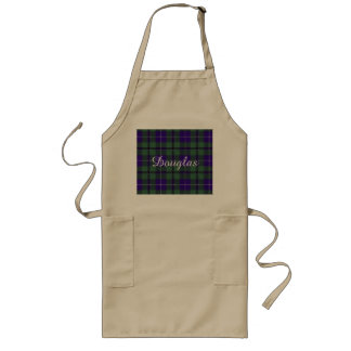 Douglas clan Plaid Scottish tartan Long Apron
