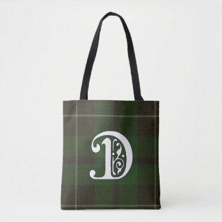 Douglas Clan Tartan Monogram Tote Bag