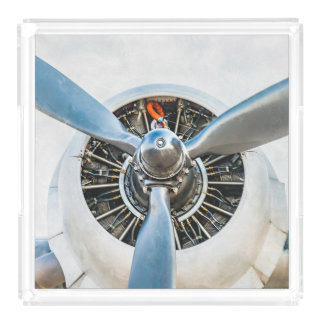 Douglas DC-3 Aircraft. Propeller Acrylic Tray