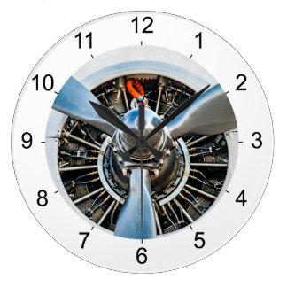 Douglas DC-3 Aircraft. Propeller Large Clock