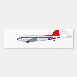 Douglas DC-3 Skytrain Northwest Airlines Bumper Sticker
