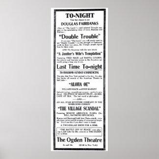 Douglas Fairbanks 1915 vintage movie ad poster