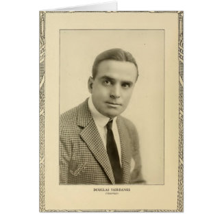 Douglas Fairbanks 1916 vintage portrait Card
