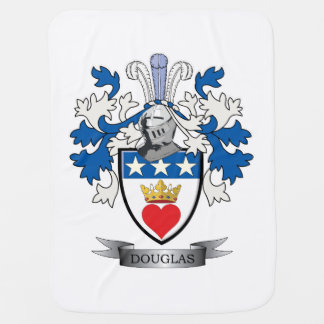 Douglas Family Crest Coat of Arms Baby Blanket