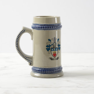 Douglas Family Crest Coat of Arms Beer Stein
