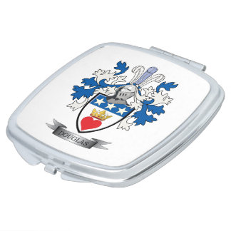 Douglas Family Crest Coat of Arms Compact Mirrors