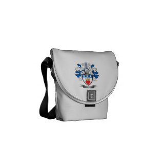 Douglas Family Crest Coat of Arms Courier Bags
