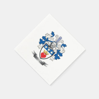 Douglas Family Crest Coat of Arms Disposable Napkins