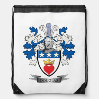 Douglas Family Crest Coat of Arms Drawstring Bag