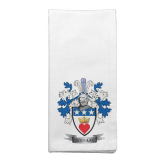 Douglas Family Crest Coat of Arms Napkin