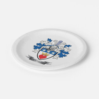 Douglas Family Crest Coat of Arms Paper Plate