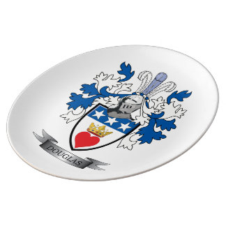 Douglas Family Crest Coat of Arms Plate