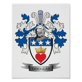 Douglas Family Crest Coat of Arms Poster