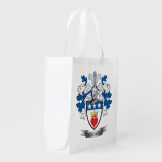 Douglas Family Crest Coat of Arms Reusable Grocery Bag