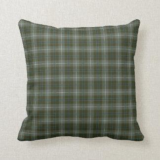 Douglas Family Loden Green Reproduction Tartan Throw Pillow
