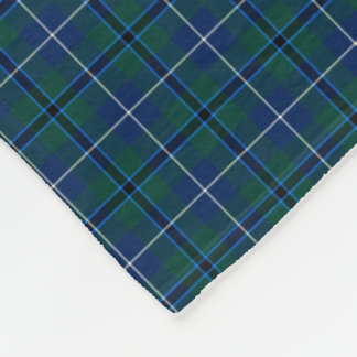 Douglas Family Navy Blue Modern Clan Tartan Fleece Blanket
