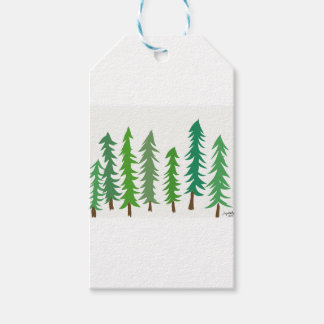 Douglas Fir Trees Gift Tags