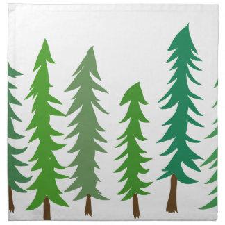 Douglas Fir Trees Napkin