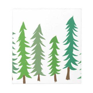 Douglas Fir Trees Notepad
