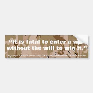 Douglas MacArthur il est mortel pour écrire une gu Autocollant De Voiture