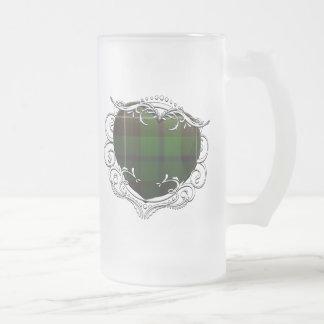 Douglas Tartan Heart Frosted Glass Beer Mug