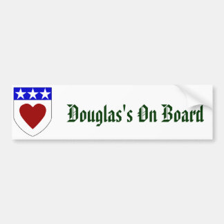 Douglas's On Board Bumper Sticker